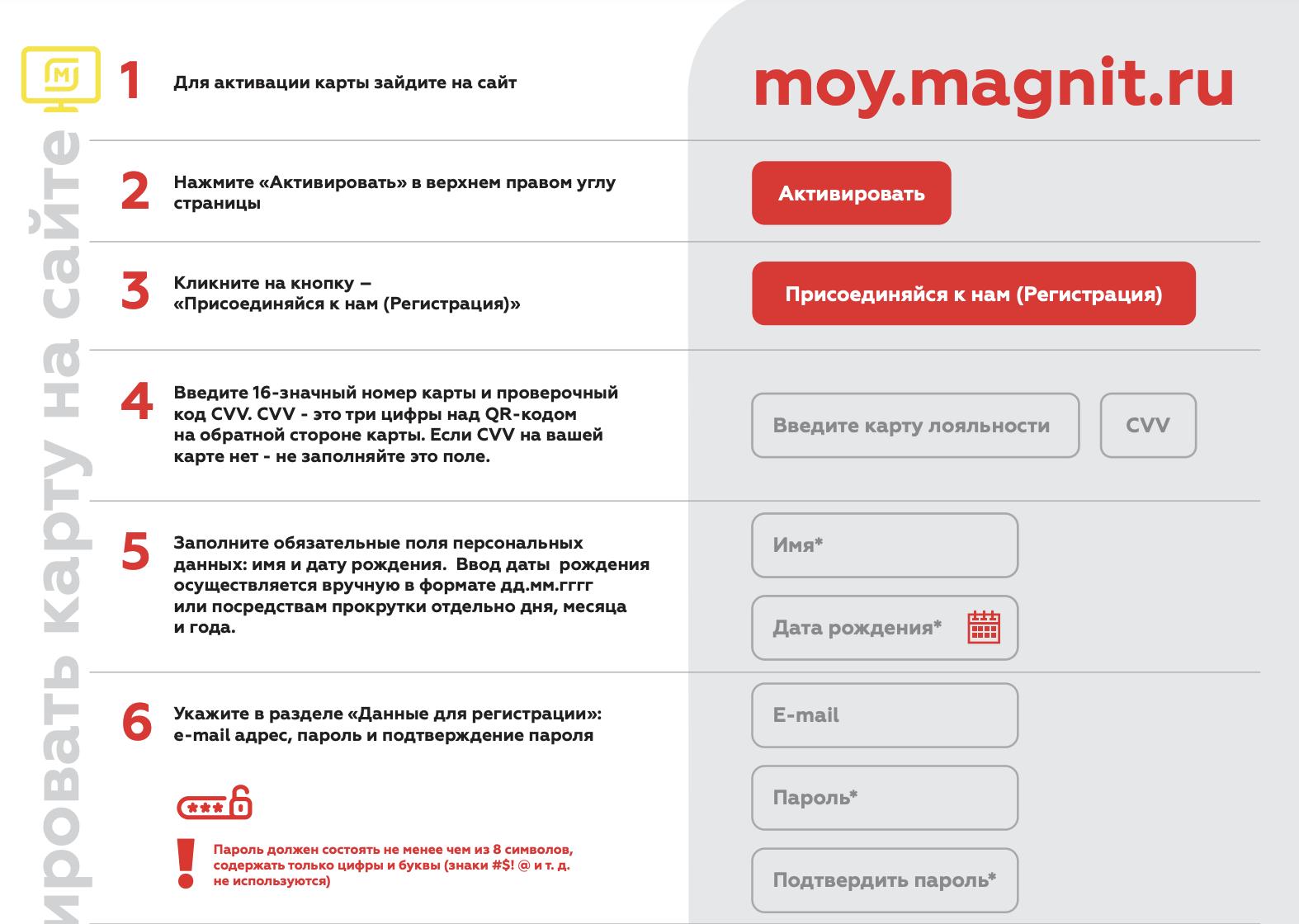 Как активировать бонусную карту Магнит